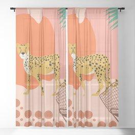A Friendly Visit Sheer Curtain