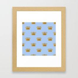 Louis Blue Gold Crown Prince of Cambridge Framed Art Print