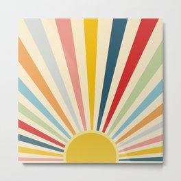 Sun Shines Inside you Metal Print