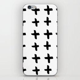 Black and white cross pattern. Modern. Scandinavian. iPhone Skin