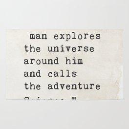 Edwin Hubble quote Rug