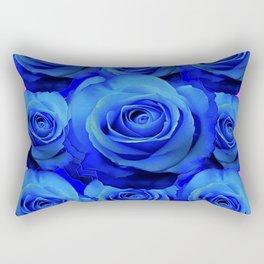 BLUE ROSE GARDEN & PINK PATTERN ART Rectangular Pillow