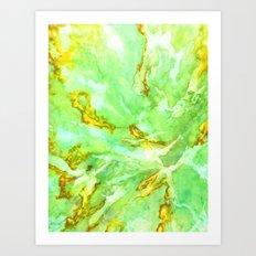 Neon Green Coral Art Print