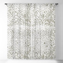 Snake Skin Martini Olive Sheer Curtain