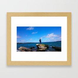 Breaking the Horizon Line Framed Art Print