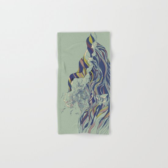 OCEAN AND LOVE Hand & Bath Towel