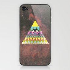 Pyramid in Space. iPhone & iPod Skin