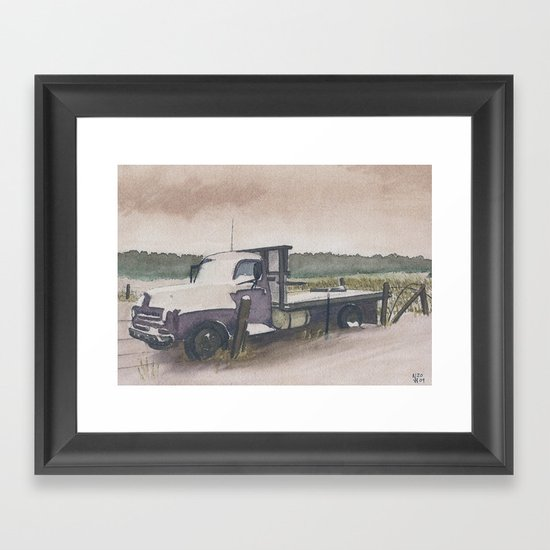 The Work Truck Framed Art Print