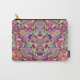 Colorful Triangle Mandala Carry-All Pouch