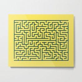 Labyrinth maze n° 17 Metal Print