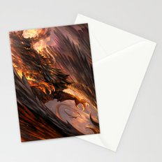 Black Crystal Dragon Stationery Cards