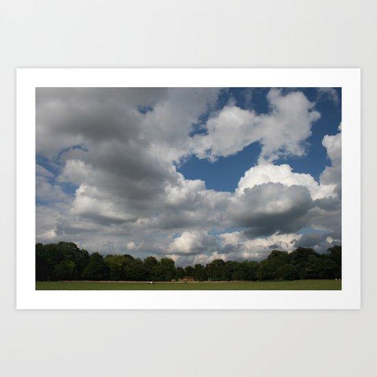 usual sky Art Print