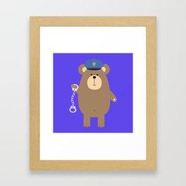 Police Bear with Framed Art Print