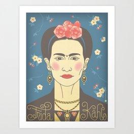 Frida Kahlo Portrait Art Print