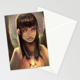 Girl in the Woods Stationery Cards