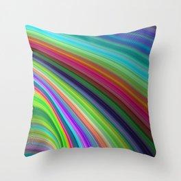 Sliding Magic Colors Throw Pillow