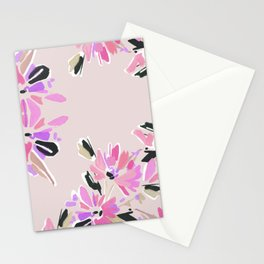 Mod Floral in Pink Stationery Cards