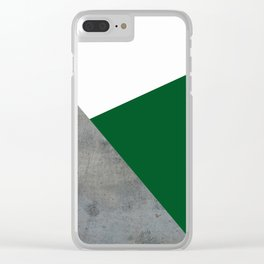 Concrete Festive Green White Clear iPhone Case