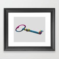 CMYKeyhole Framed Art Print