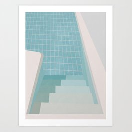 Swimming Pool Summer Art Print