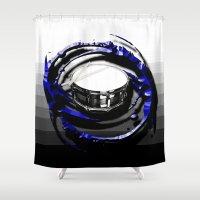 drum Shower Curtains featuring Music - Drum by yahtz designs