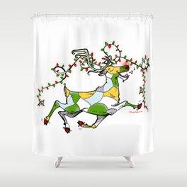 Rockin' Reindeer! Shower Curtain