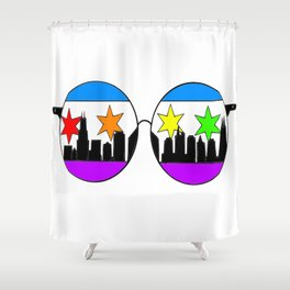 chicaGOggles Pride Shower Curtain