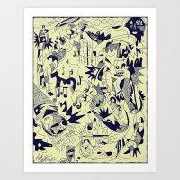Melt Moon Blues Art Print