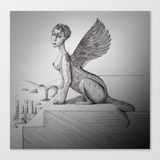 My-thology, the Sphinx Canvas Print