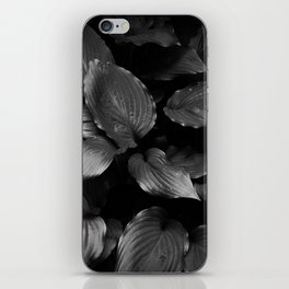 Foliage Black and White iPhone Skin