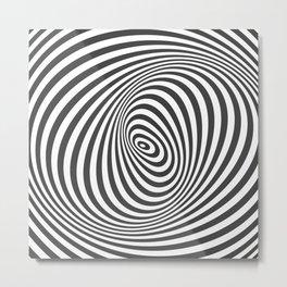 T Shirt Texture Zebra Stripes Printed Tops Tees Graphics Pattern Metal Print
