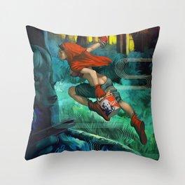 Red Hood Throw Pillow