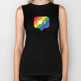 Instagram LGBTQ Heart Notification Biker Tank