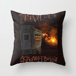 Travel With the Kumpania Boleyn! Throw Pillow
