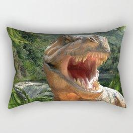 T Rex in Prehistoric Landscape Rectangular Pillow