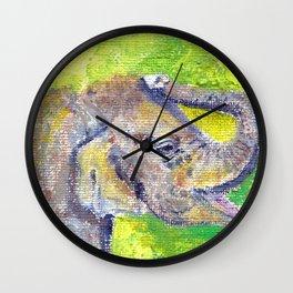 Fuzzy Baby Wall Clock