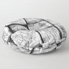 Cog Box Floor Pillow
