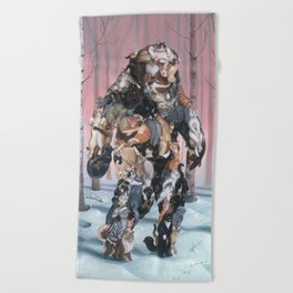 Catsquatch (super high res) Beach Towel