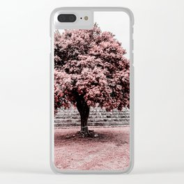 Dzibilchaltun Tree Clear iPhone Case