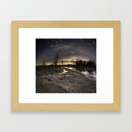 Sun Down at the Swamp Framed Art Print