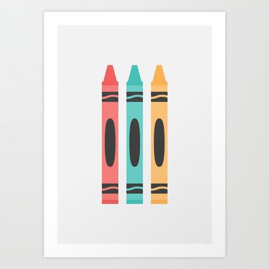 #94 Crayon Art Print