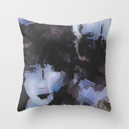 Abstract - Knowing Blue Throw Pillow