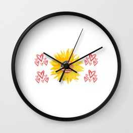 "Grea Gift For Daughters ""She's A Good Girl Loves Her Mama Loves Jesus & America Too"" T-shirt Design Wall Clock"