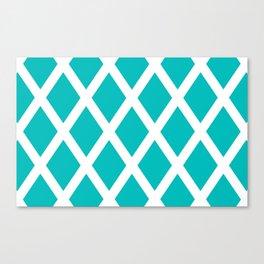 Turquoise Diamonds Canvas Print
