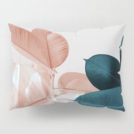 Blush & Blue Leaves Pillow Sham