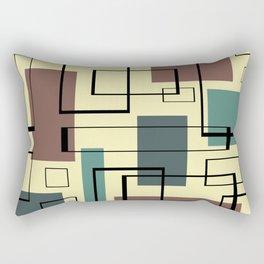 Mid Century Modern Rectangles Rectangular Pillow
