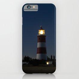 Lighthouse Night Tower Happisburgh Light Beacon iPhone Case
