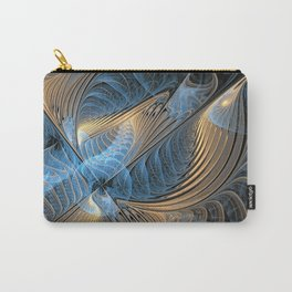 the fractal bird - blue Carry-All Pouch