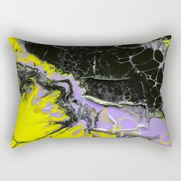 Epic Black and Yellow Texture Painting Rectangular Pillow