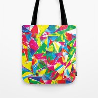 rave Tote Bags featuring Rave Paint by Mariah Williams